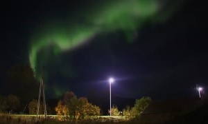 Stunning aurora activity captured on camera in Sortland, Norway