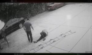 Man Checks on Ladder Instead of Fallen Friend