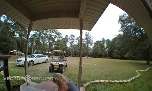 Friend Falls Flat While Approaching Porch