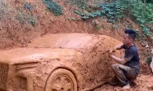 Artist Makes a Cool Clay Car