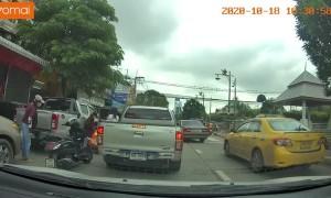 Bad Timing with Truck Door