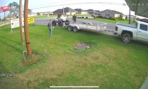 Loading Four-Wheeler into Trailer Doesn't go as Expected
