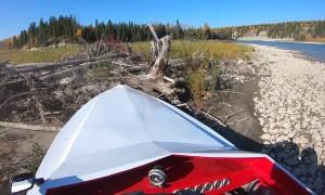 Jet Boat Runs Aground at Full Speed