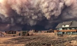 Apocolyptic view from home in Granby, Colorado after fire explosion