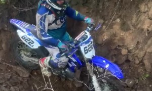 Dirt Bike Launches during Enduro Race