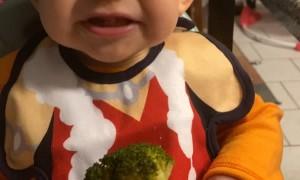 Baby Tries Broccoli