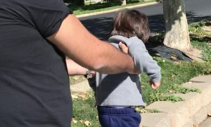 Hilarious Little Boy Tries to Run Fast