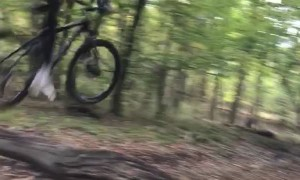 Mountain Biker Sends it a Bit Too Hard