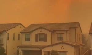 #SilveradoFire right before evacuation in Irvine CA.