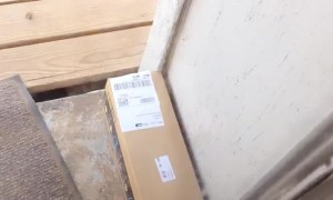 Amazon Package Traps Lady in Her House