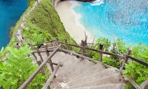 Stairs Lead to Spectacular Beach