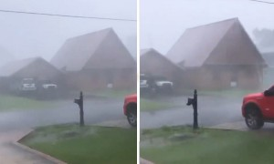 Man captures 120mph winds of Hurricane Zeta and it looks terrifying