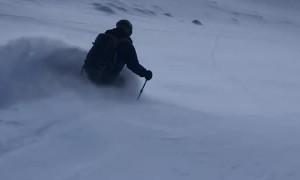 Skier Carves Fresh Powder in Beautiful Switzerland