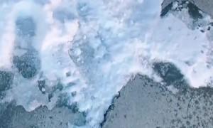 Frozen Money Found in Snow Filled Driveway