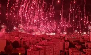Jaw-dropping firework display in Split, Croatia as Torcida celebrates 70th birthday
