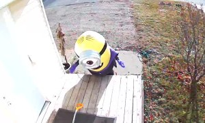Wind Helps Minion Get on the Move
