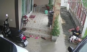Man Gets Frustrated after Silly Slip