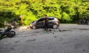 Motorcyclist Hits Van on Day Drive