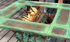 Impressive Engine Block Fire Pit