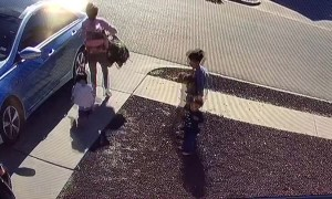 Toddler Taken Out by Car Door