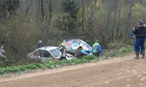 Tough Turn at Russian Rally Race
