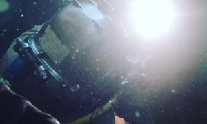 A Skillful Display of Underwater Welding