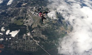 Hybrid Skydive on a Beautiful Day