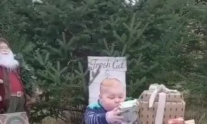 Check out this kid's reaction after receiving his favorite toy