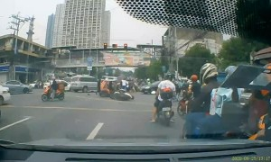 Rider Dragged by Van in Accident