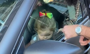 Toddler Locked in Maserati