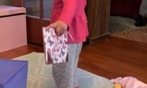 When Girl's Princess Heels Meets Hardwood Floor