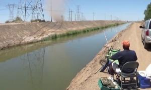 Dust Devil Blows into Fisherman