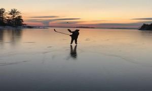 Playing Hockey on a Frozen Lake