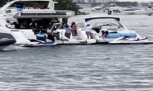 Police Pursue Man on Jetski in Miami Bay