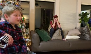 Family Surprises Kids with Puppy for Christmas