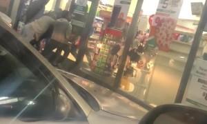 Robber Breaks Through Glass Door at 7/11
