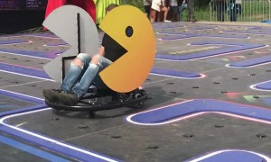 Real Life Pac-Man in Amsterdam