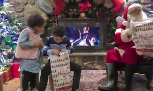 Little Girl Surprises Brother with Question About Santa's Gift