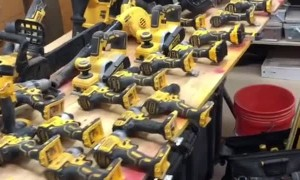 Carpenter Has an Impressive Collection of Dewalt Tools