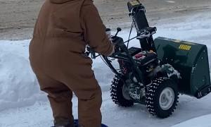 Snowblower Sled Ride