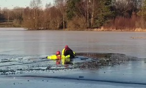 June Murphy - Amazing  rescue on the ice on loch at hoggan field  glasgow Scotland