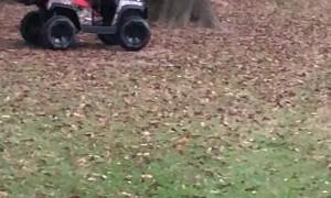 Boy Bounces Out of Electric Car After Crash