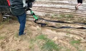 Tough Truck Pulls Semi through Deep Mud
