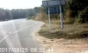 Warning Honk Won't Stop Swerving SUV