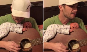Dad Serenades Newborn And It's Absolutely Priceless