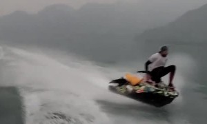 Balancing on the Front of a Jet Ski