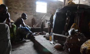 Voodoo Ritual for a Blessing in Togo Africa