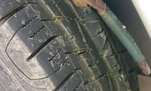 A Pair of Pliers Gets Lodged into a Tire