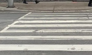 Irate Woman Kicks Down All Signs in Her Path