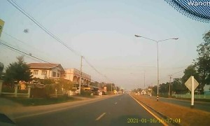 Truck Runs Red Light and Causes Accident